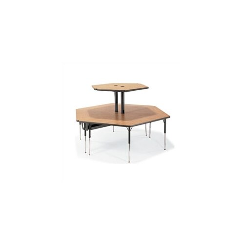 "Virco 2-Single Technology Tables Ganged Together (74"" x 84"")"
