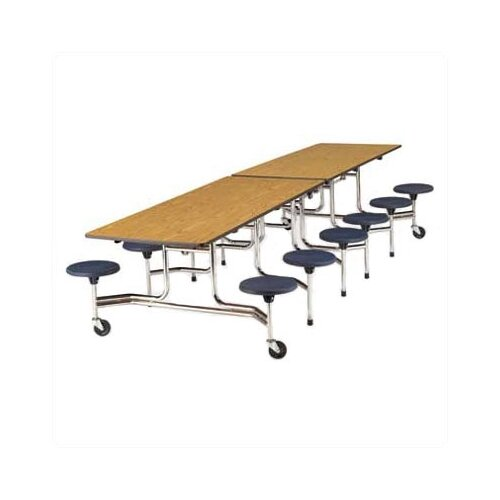 """Virco Stool Table with T-Mold Edge and 17"""" High Stools"""