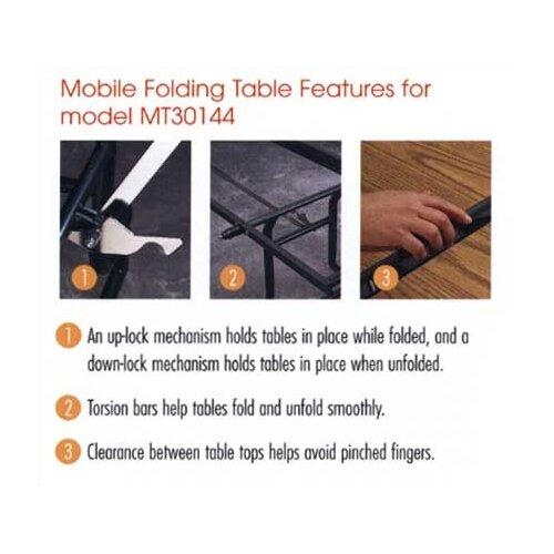 Virco Rectangular Mobile Duofold Table