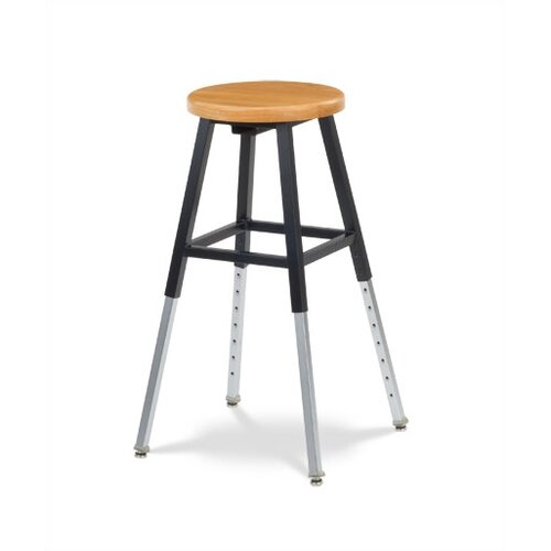 Virco Height Adjustable Lab Stool with Chrome Legs