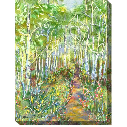 West of the Wind Outdoor Canvas Art Peaceful Path Painting Print on Canvas