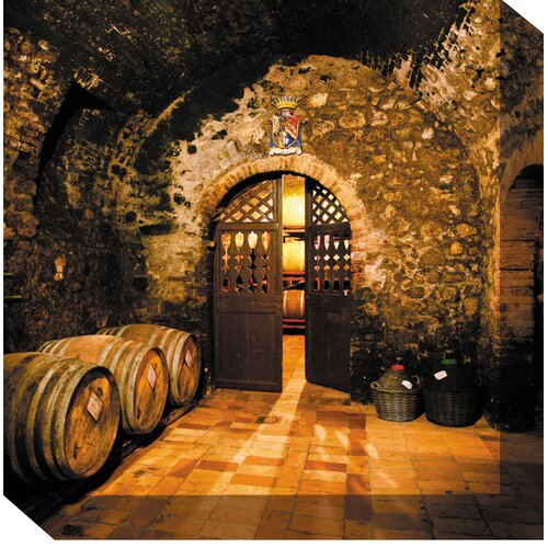 Wine Cellar #3 Photographic Print on Canvas