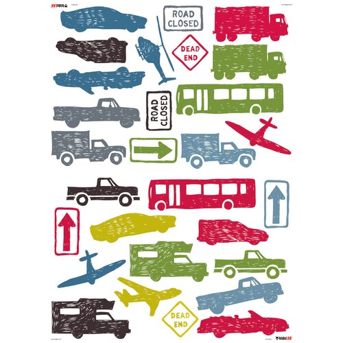 Kids Lab City Traffic Wall Decal