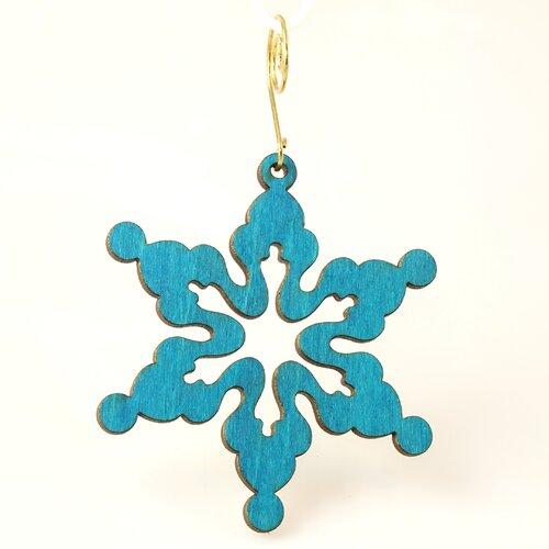 Green Tree Jewelry Cloudy Snowflake Ornament