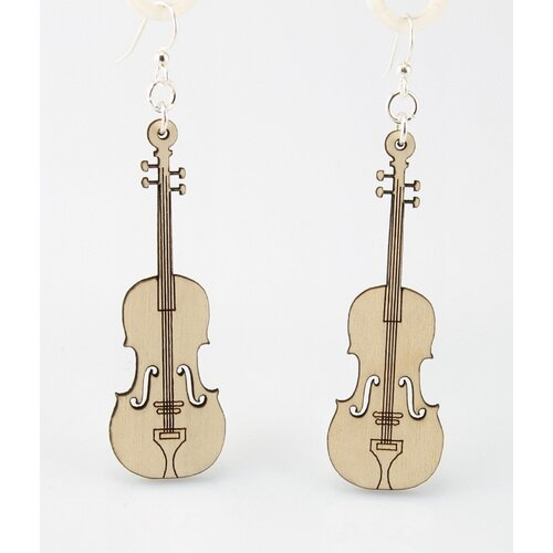 Green Tree Jewelry Violin Earrings