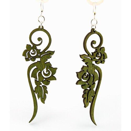 Long Ornate Flower Earrings