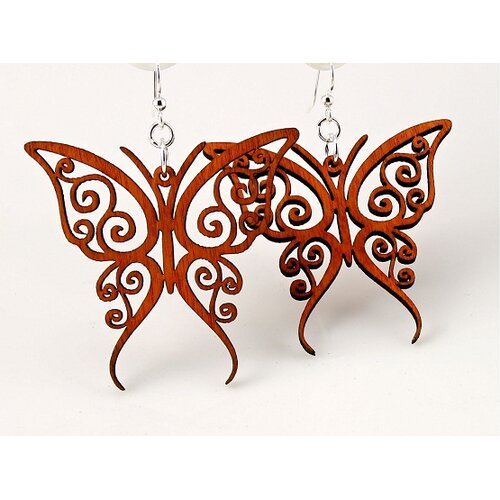 Green Tree Jewelry Fancy Butterfly Earrings