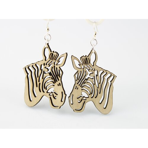 Green Tree Jewelry Zebra Earrings