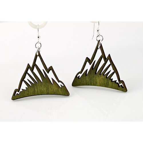 Green Tree Jewelry Mountains Earrings