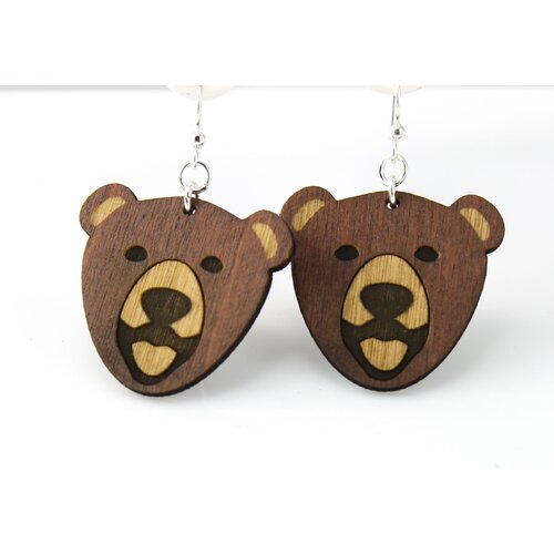 Green Tree Jewelry Bears Earrings