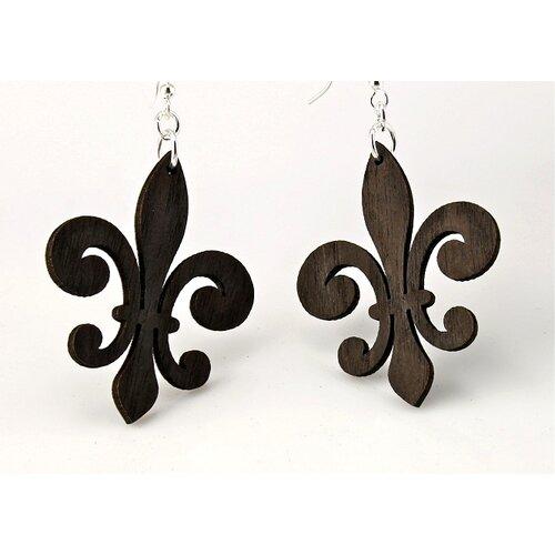 Green Tree Jewelry Regular Fleur de Lis Earrings