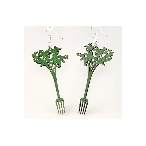 Green Tree Jewelry Carrot Forks Earrings