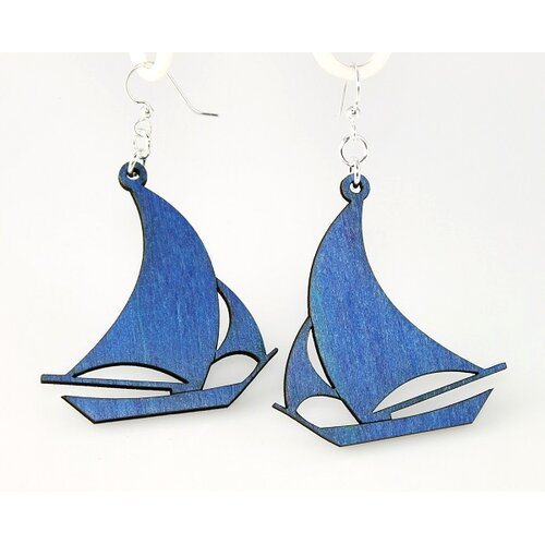 Green Tree Jewelry Sailboats Earrings