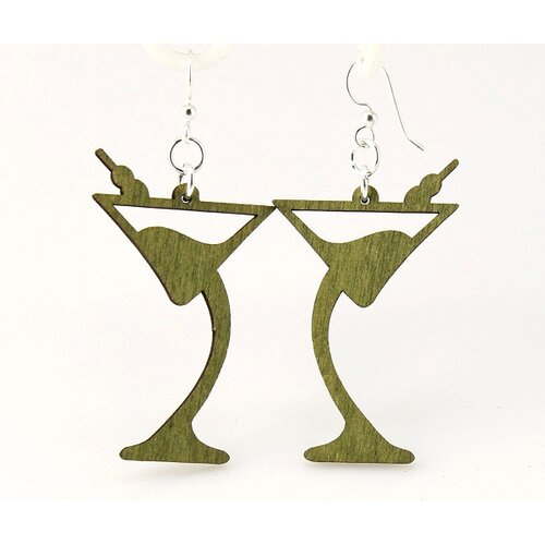 Green Tree Jewelry Martini Earrings