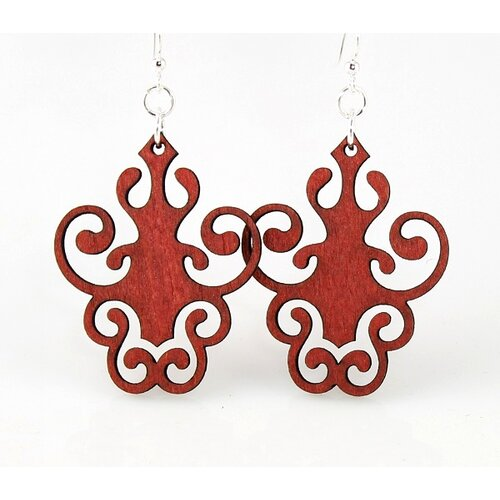 Green Tree Jewelry Iron Lamp Design Earrings