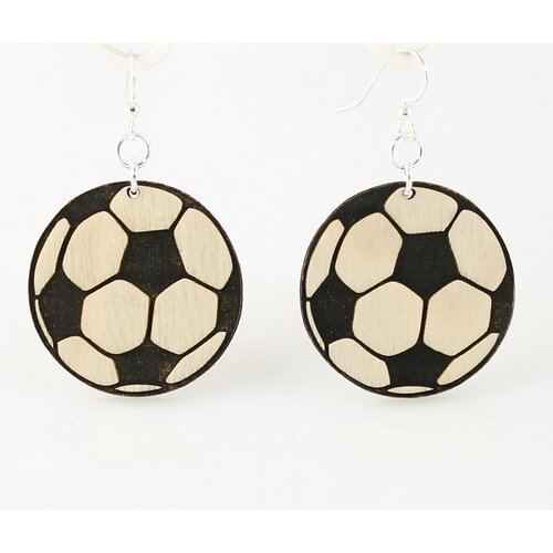 Green Tree Jewelry Soccer Balls Earrings