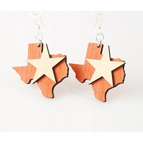 Green Tree Jewelry Lone Star State Earrings