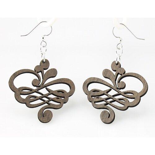 Green Tree Jewelry Small Calligraphy Earrings