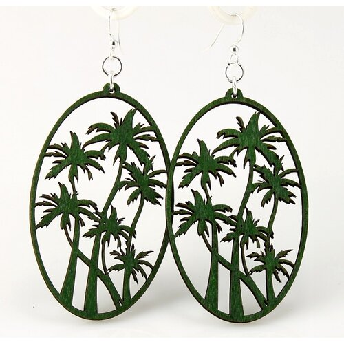 Green Tree Jewelry Palm Trees Earrings