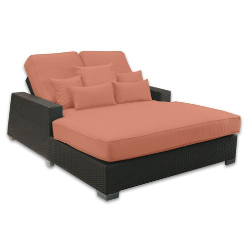 Patio Heaven Signature Double Chaise Lounge with Cushion & Reviews