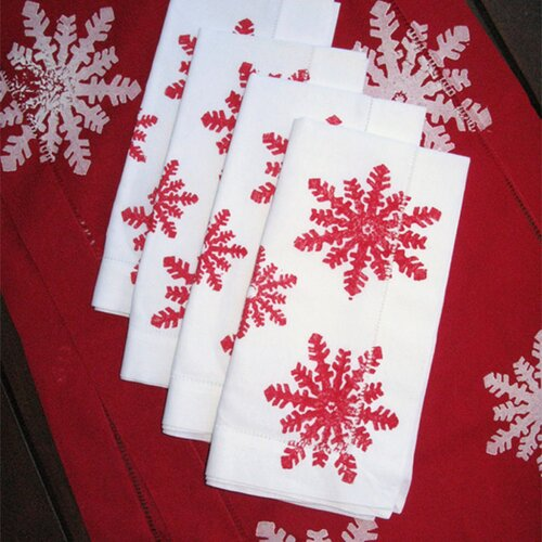 Lowcountry Linens Snowflake Dinner Napkin (Set of 4)