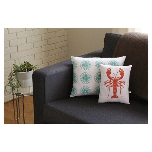 Artgoodies Lobster Block Print Squillow Accent Pillow