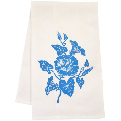 Organic Block Print Morning Glory Towel