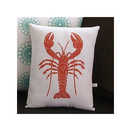 Artgoodies Lobster Block Print Squillow Accent Pillow