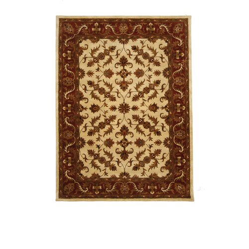 Liberty Oriental Rugs Tempest Ivory/Maroon Rug