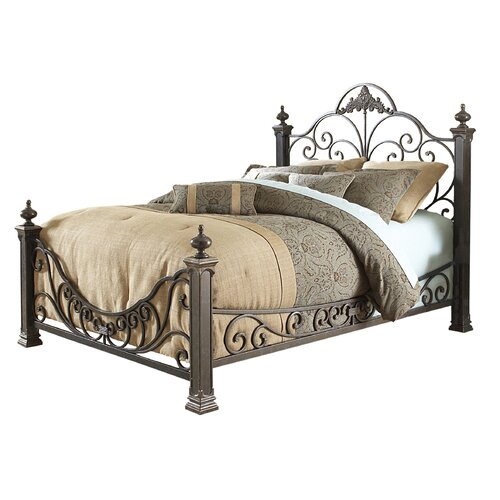 Fashion Bed Group Baroque Metal Bed