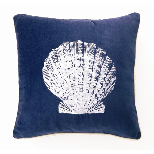 D.L. Rhein Scallop Down Filled Embroidered Velvet Pillow