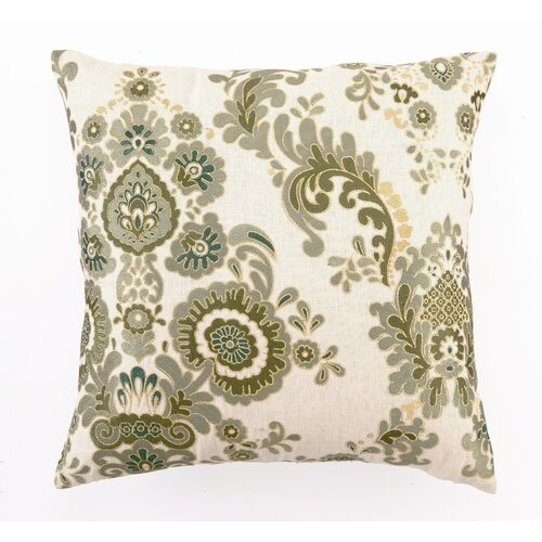 D.L. Rhein Marseilles Down Filled Embroidered Linen Pillow