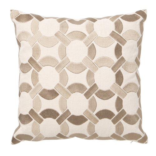 D.L. Rhein Mod Link Down Filled Embroidered Linen Pillow