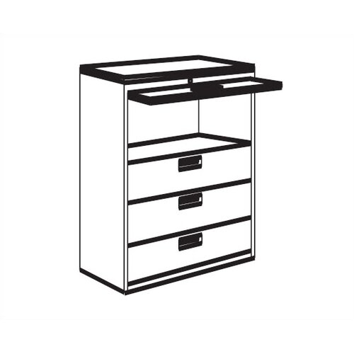 Great Openings 4-Drawer Receding Door  File