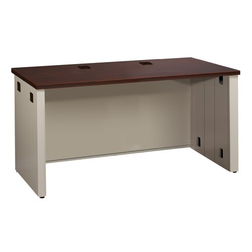 Great Openings Trace Desk Shell with Grommet Holes and Wire Management