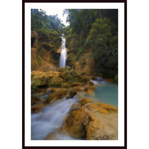 'Scenic Waterfall, Luang Prabang, Laos' by Carson Ganci Framed Photographic Print