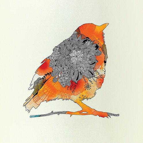 Orange Bird by Iveta Abolina on Canvas