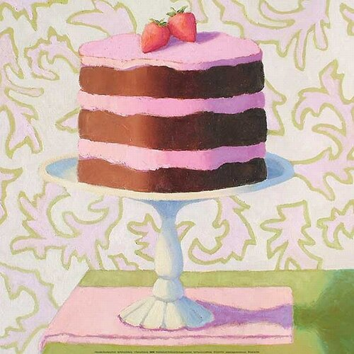 Chocolate Strawberry Torte by Patricia Doherty Canvas Art