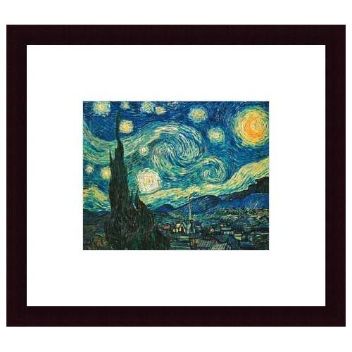 Barewalls 'Starry Night' by Vincent Van Gogh Framed Painting Print