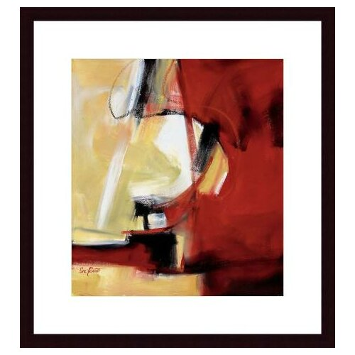 Barewalls Movement in Red by Eva Carter Framed Painting Print