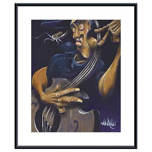 Movin' Strings by David Garibaldi Framed Graphic Art