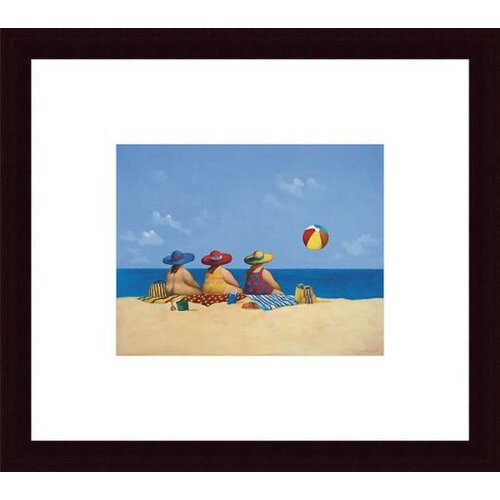 'Three Ladies Sunning' by Michael Paraskevas Framed Painting Print