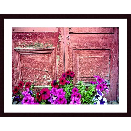 'Old Door and Flowers' by John K. Nakata Framed Photographic Print