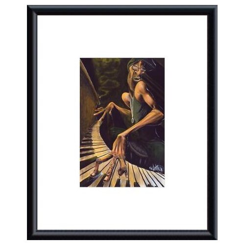 Barewalls 'Lounge Smoke' by David Garibaldi Framed Painting Print