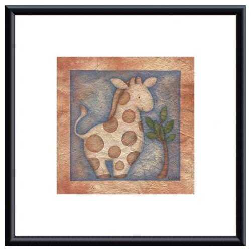 Barewalls 'Giraffe' by Beth Logan Framed Graphic Art