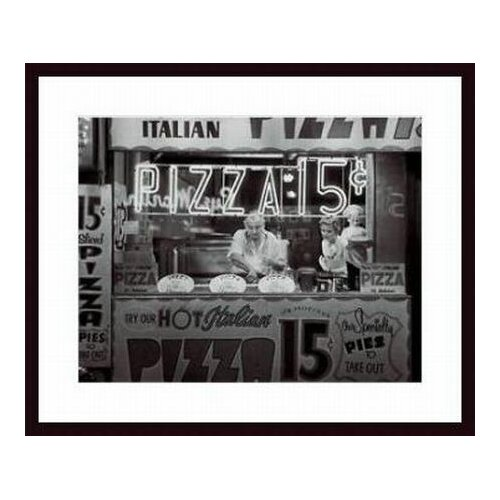 Barewalls 'Hot Italian Pizza' by Nat Norman Framed Photographic Print