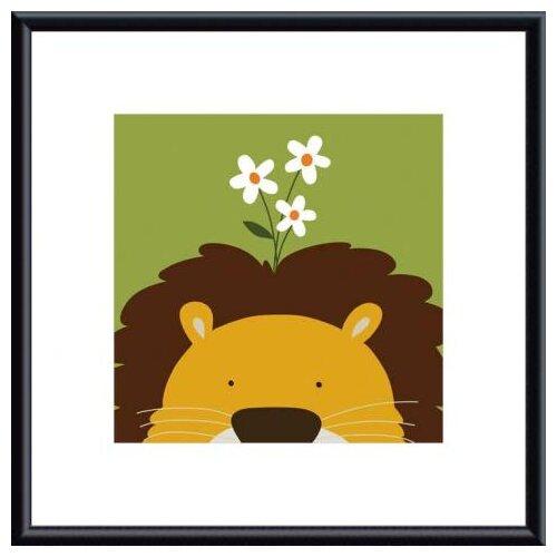 Barewalls Peek-A-Boo Lion by Yuko Lau Framed Art