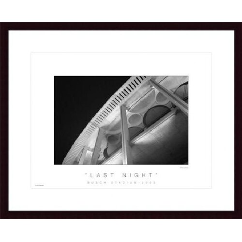 Barewalls Last Night by Don Marquess Framed Photographic Print