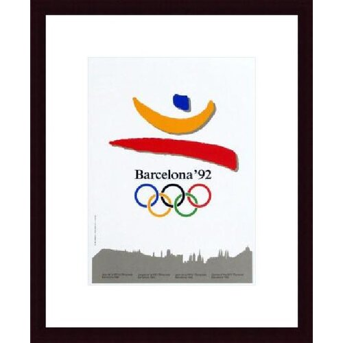 Barewalls Barcelona 1992 Framed Graphic Art