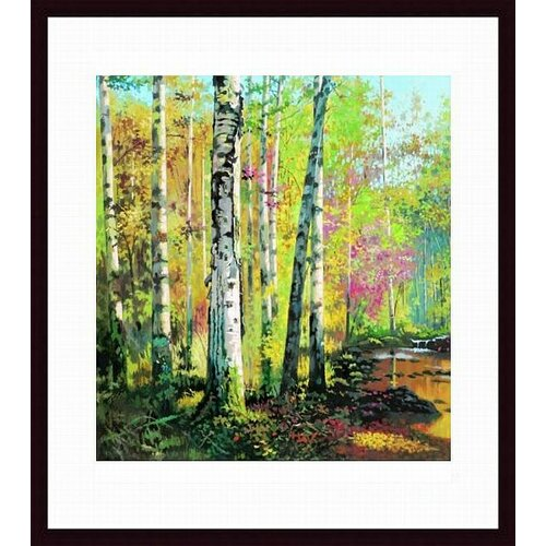 Barewalls Creekside I by Jie Zhou Framed Painting Print